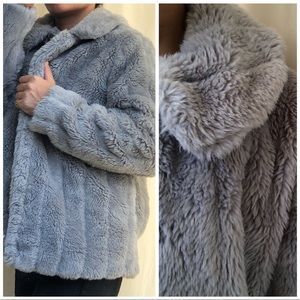 Jackets & Blazers - Gray Faux Fur Jacket